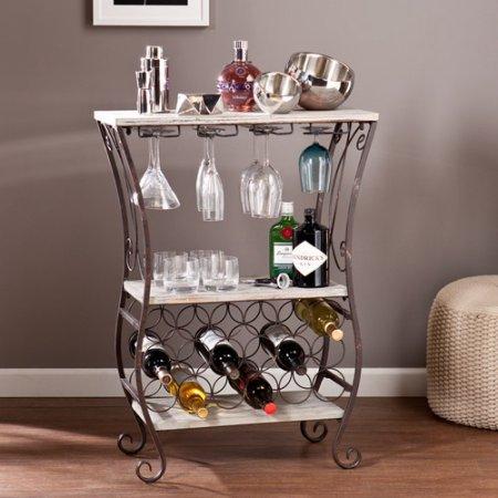 Verona Wine Storage Table Grey