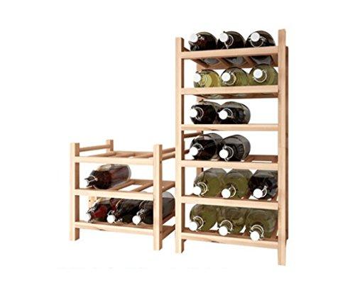 GRLJJ Wine Rack Solid Wood Wood Color Creativity Solid Wood Nine Bottles Wine Rack Modern Simple Wooden Wine Rack Wine Bubble Wine Rack Stackable 9 Bottles Practical Storage Rack 33x30x34cm