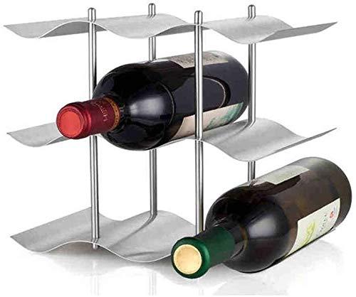 ZHWEI Wine Racks 9-bottle Wine Rack Wine Metal Wine Rack Standing Floor Decor Tabletop Wine Rack Safe Practical