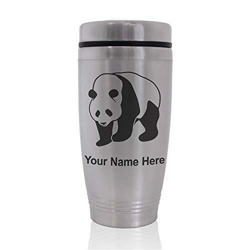 Commuter Travel Mug Panda Bear Personalized Engraving Included