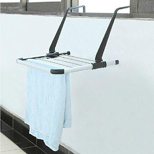 Outdoor Drying Rack Sliding Retractable Folding Balcony Hanger Rod