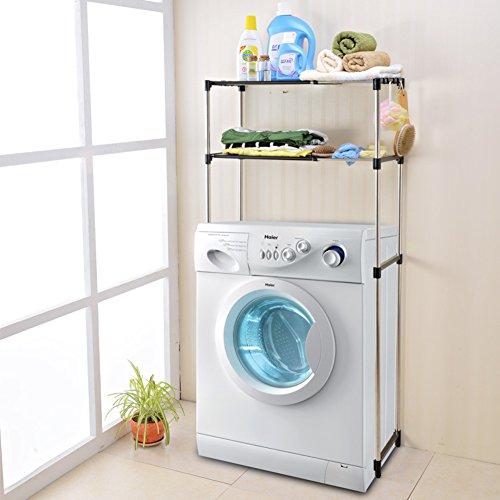 Stainless steel retractable laundry racks Multipurpose toilet rack bathroom storage management arm-B