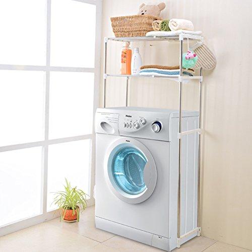Stainless steel retractable laundry racks Multipurpose toilet rack bathroom storage management arm-E