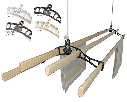 Premium British Cast Iron Ceiling Airer Victorian 4-Slat Bracket White 6ft Slats