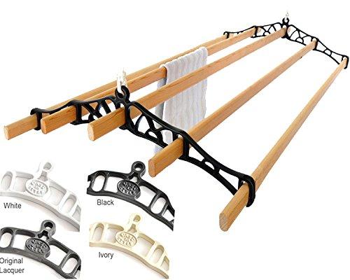 Premium British Cast Iron Ceiling Airer Victorian 5-Slat Bracket Lacquer 3ft-Slats