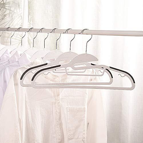 QHQH Plastic Hanger Multifunction Dry Wet Clothes Hangers Non-Slip Durable Clothes Hanger Non-Slip Clothes Hanging Adult Wet and Dry Clothes Hanger 10 Pack