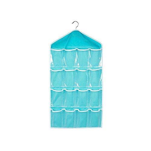 16 Grids Wardrobe Hanging Storage Bag Bra Underwear Socks Ties Closet Tidy Organiser