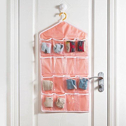 16 Pockets Door Hanging Wardrobe Storage Bag for Socks Shoes Toys Jewelry Bra Underwear Pocket Bag Rack Hanger Closet Tidy Organiser