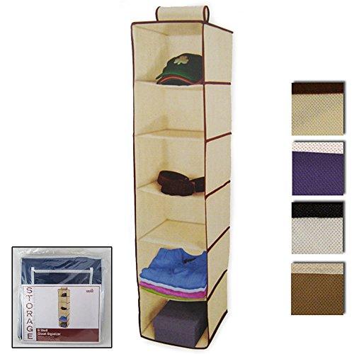 6 Shelf Hanging Wardrobe Storage Organizer Cloth Bag Blanket Box Home Organization