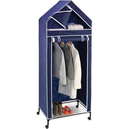 Honey Can Do 30 Portable Storage Closet NavyWhite Trim by BLOSSOMZ
