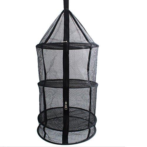 Hanging Drying Shelf Rack 4 Layer Storage Basket Tableware Food Dry Net