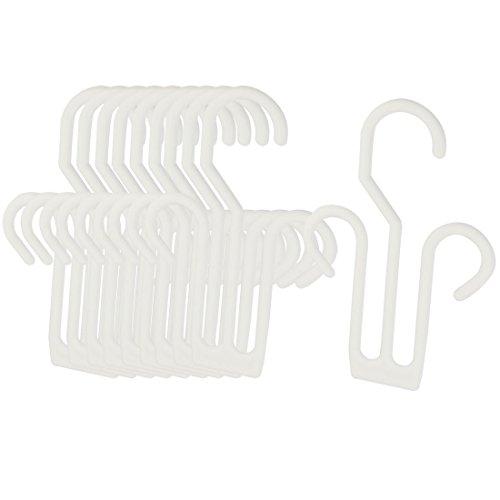 TOOGOOR Plastic Slippers Leather Shoes Drying Shelf Hanger 10 Pcs White
