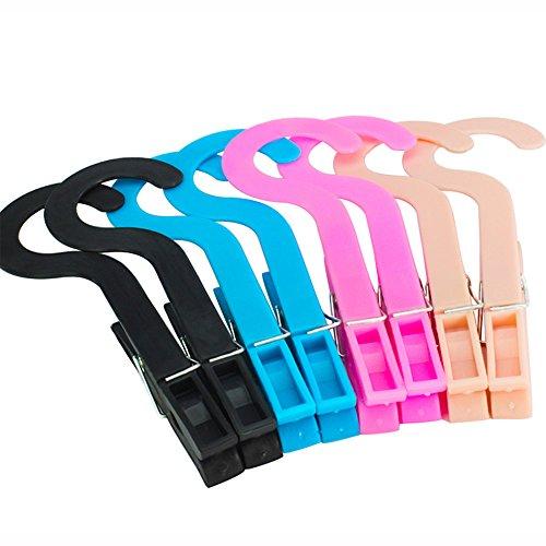 Kxtffeect Multipurpose Hanging Clothes Pins Laundry Bra Socks Underwear Hanger Hook ClipsRandom Color 8