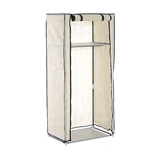 HomCom 60 Portable Clothes Closet Wardrobe Rack - Beige