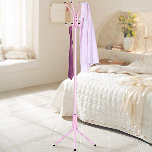 Coat rack floor bedroom household metal clothes rack hanger idea the living room shelvesPink