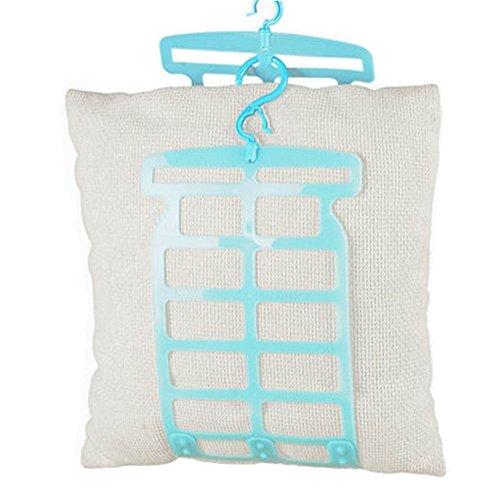 24station Pillow Doll Drying Rack Multi-Function Plastic Adjustable Hanger Holder Blue