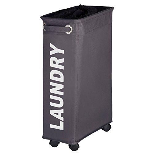 WENKO 3450115100 Laundry bin Corno Grey - laundry basket capacity 1136 gal Polyester 73 x 236 x 157 inch Dark grey