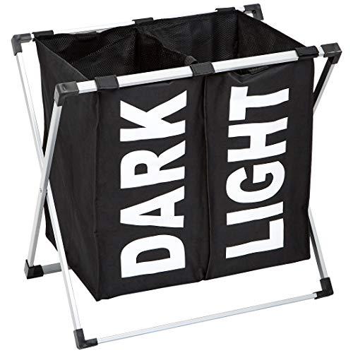 AmazonBasics Double Laundry Basket Hamper Black
