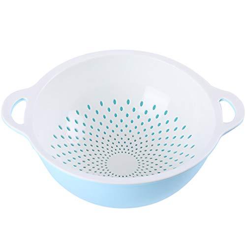 QL Salad Bowl Plastic Double Laundry Basket Leaking Basket Kitchen Drain Basket Sink Filter Basket Salad Bowl