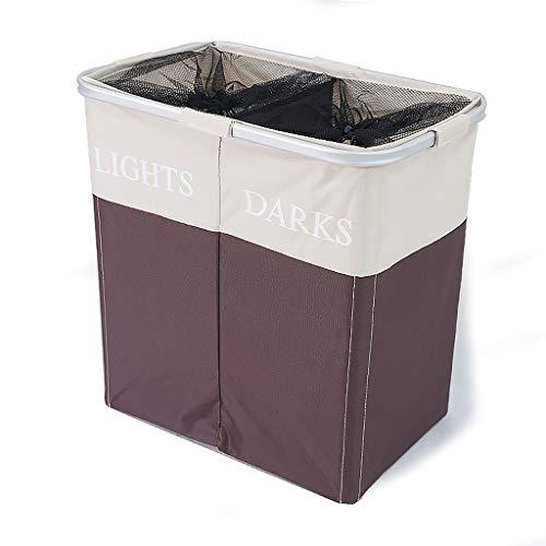 Qivor Oxford Cloth Double Laundry Basket Washable Hamper Toy Clothes Storage Box Home Storage Bucket Foldable