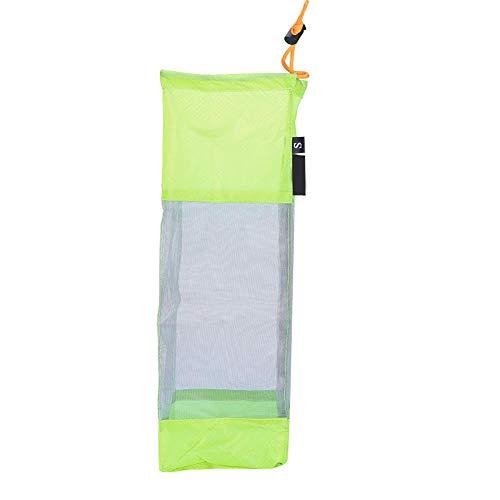 Alomejor Foldable Laundry BagLarge Portable Storage Washing Clothes Hanging Laundry Bag Travel Laundry Mesh Net Drawstring Bag Backpack Green-L