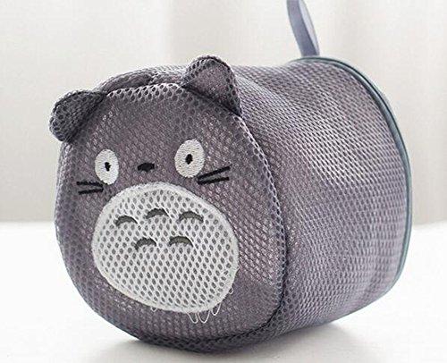 Cute Cartoon Laundry Net Bag Anti - Deformation Bra Underwear Washing Machine Washing Bag Gray
