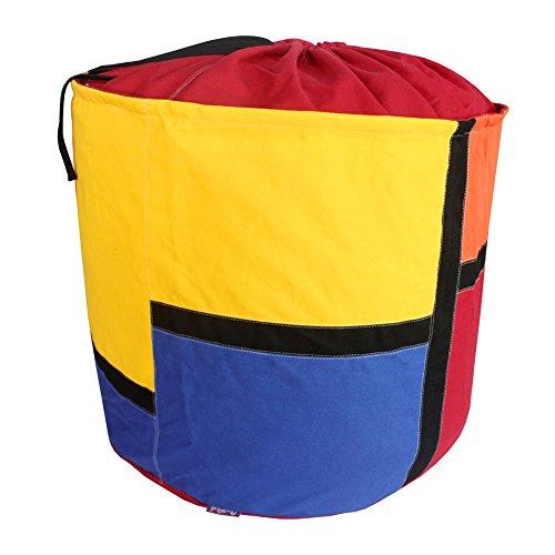 Red Useful Canvas Laundry Basket Storage Bag Toy Organizer