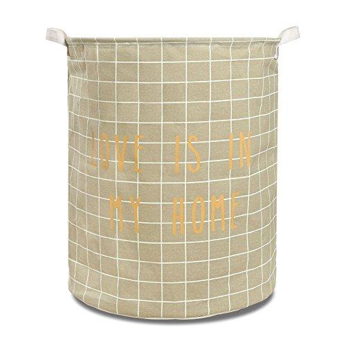 Canvas Laundry Hamper Waterproof Folding Basket Large Sized khahi Plaid157x197