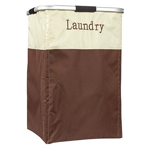 Family Sized Laundry Hamper Basket - Folding Canvas Hamper Clothes Bin Clothing Storage Organizer for Laundry 155 x 155 x 235 inches