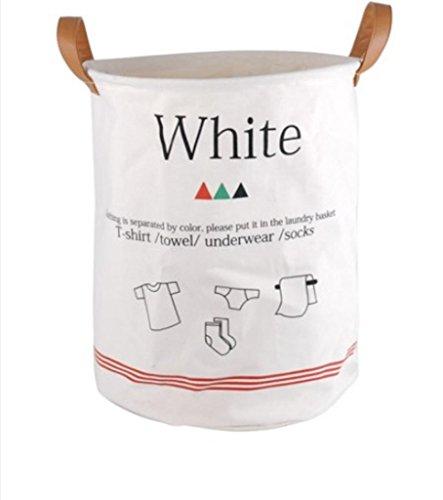 GYMNLJY Home Daily Foldable Cotton Canvas Laundry Basket Storage Bags Dustproof Accommodating Bag Storage Box