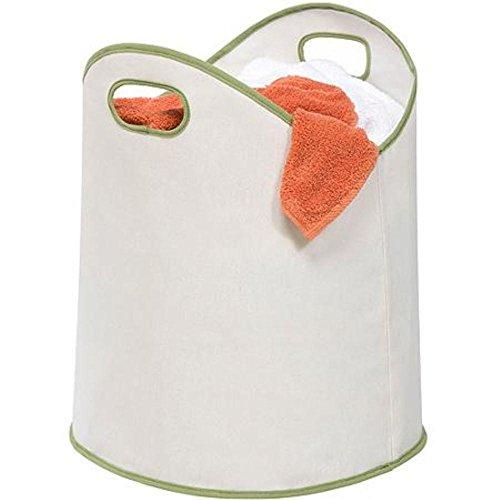 Honey-Can-Do Large Load Canvas Laundry Basket White