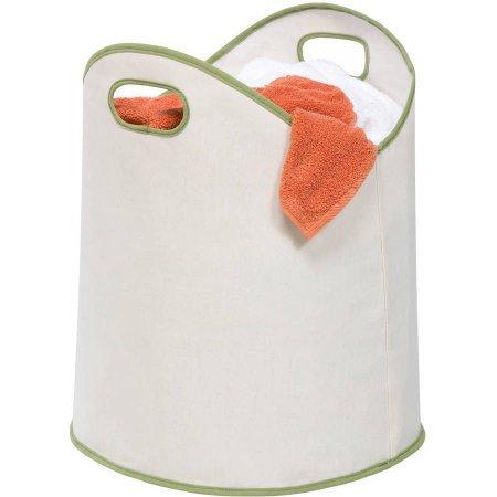 Large Load Canvas Laundry Basket White