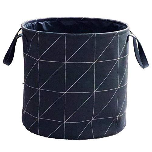 Fabric Laundry Basket Cotton Linen Large Sized Storage Basket Household Foldable Laundry Basket Storage Bin Dirty Clothes Bag JINRONG Color  D Size  4040CM