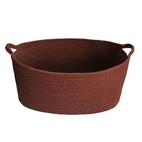 1968x1378x866 Cotton Rope Woven Storage Baskets Bins with Handles for Clothes Hamper Toys Nursery Kids Room StorageDark coffee