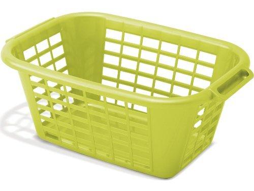 Addis 513233 Rectangular Laundry Basket Lime by Addis