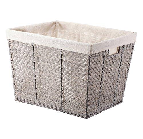 Gray rectangular Laundry Basket Wicker basket Baskets for storage Laundry Baskets Basket for underwear - Threshold