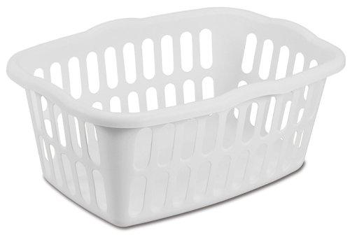 Sterilite 12458012 15 Bushel53 Liter Rectangular Laundry Basket White 12-Pack
