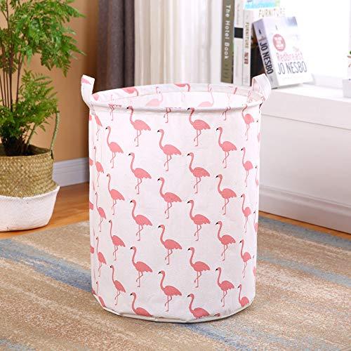 Amlrt Waterproof Foldable Laundry HamperDirty Clothes Laundry Basket Canvas Storage Basket with Handles -Kids RoomHome OrganizerNursery Storage