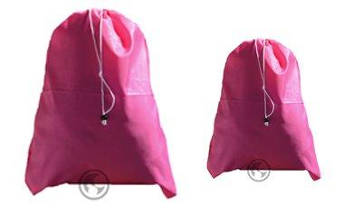 Fluor Pink Laundry Bag Set - Extra Large 30x45 and Medium 24x36