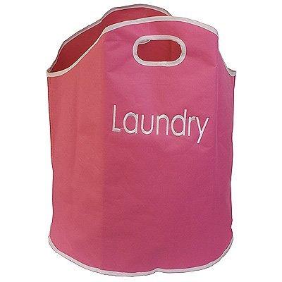 JVL Fabric Laundry Bag Pink