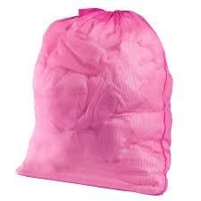 Jumbo Pink Nylon Laundry Bag