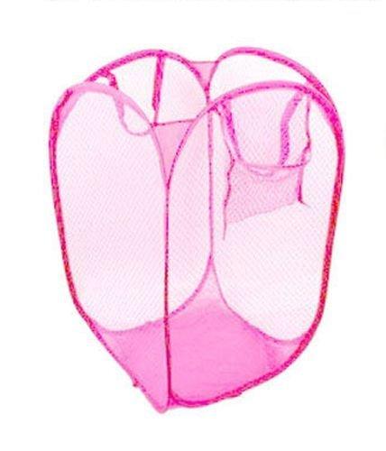 Laundry Bags canvas laundry bag Foldable Portable Washing Clothes Laundry Basket Bag Bin Hamper Mesh Storage laundry bag for delicates Pink