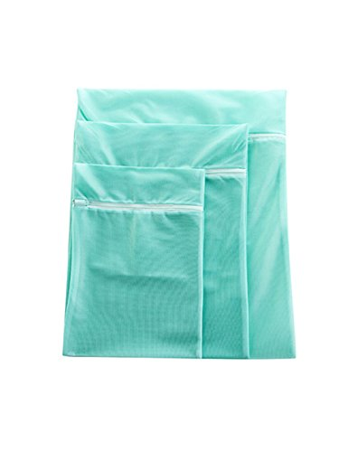 WJL 3 Packs of Premium Laundry Mesh Wash Bags for Laundry Travel Net Laundry BagAvailable in Pink and Green
