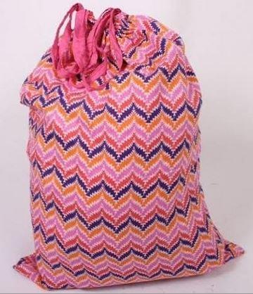 Zig Zag Pink - Laundry Bag