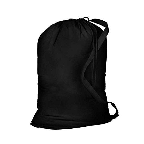Bagiva Large Size Laundry Bag with Shoulder StrapBlackLarge