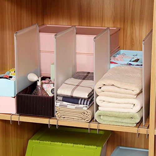 Closet divider shelf divider closet organizer pack of 4