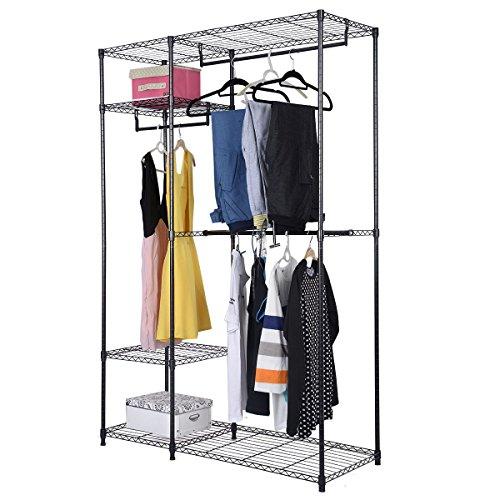 48x18x71 Closet Organizer Garment Rack Portable Clothes Hanger Home Shelf