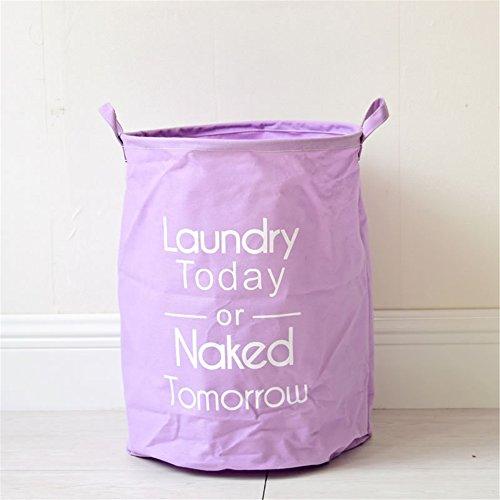 Yiliag Large Capacity Collapsible Laundry Basket Clothes Laundry Hamper Toy Storage Laundry Bin Kids-Purple