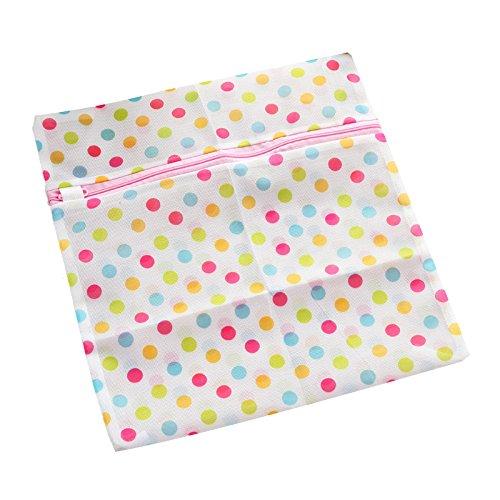 TOOGOOR 1PC Clothes Washing Machine Laundry Bag With Zipper Nylon Mesh Net Bra Washing Bag 3040cm