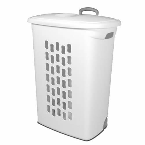 Sterilite White Ultra Wheeled Hamper - 21 L x 13-34 W x 28-38 H 1 Hamper